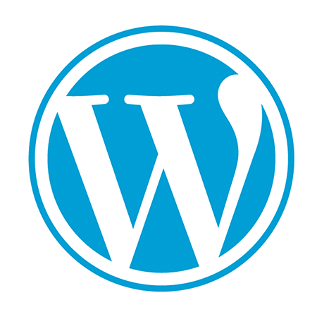 I proudly developed with wordpress